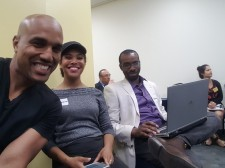 Me and the wife with inspirational speaker (and fellow JOC) Arel Moodie.