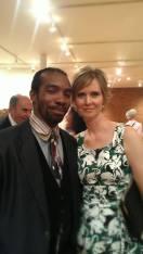 With Cynthia Nixon at the T'ruah 10th Anniversary Celebration