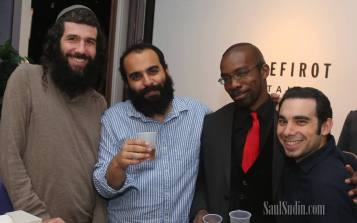 "Celebrating Hevria's birthday with author Matthue Roth, Elad ""Pop Chassid"" Nehorai, and filmmaker Saul Sudin"