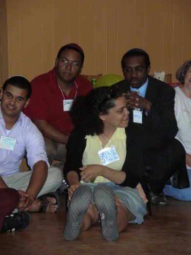 At the 2010 Jewish Mulitracial Retreat with Jews In ALL Hues founder Jared Jackson and URJ's Vice President of Audacious Hospitality, April Baskin