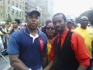 Marching in the West Indian Day Parade with Brooklyn Borough President Eric Adams